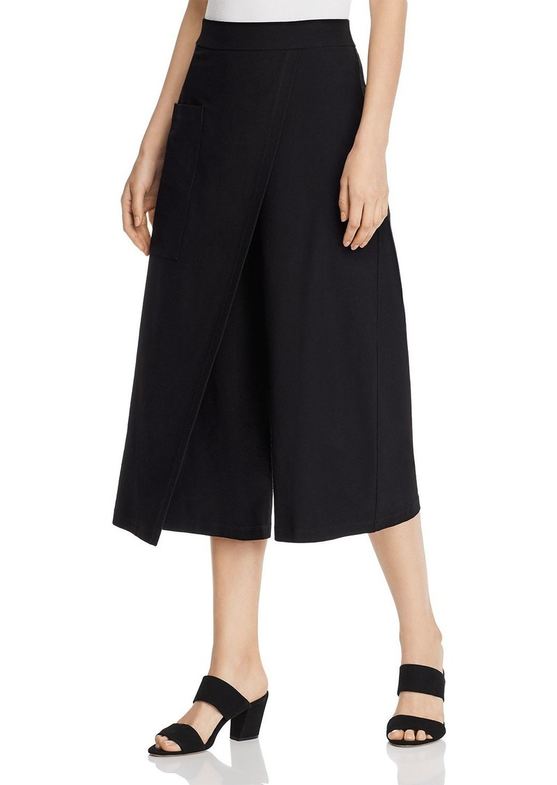 Eileen Fisher Overlay Wide-Leg Cropped Pants