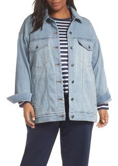 Eileen Fisher Oversize Stretch Organic Cotton Denim Jacket (Plus Size)