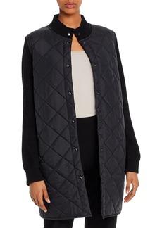 Eileen Fisher Parka-Sweater Combo Coat