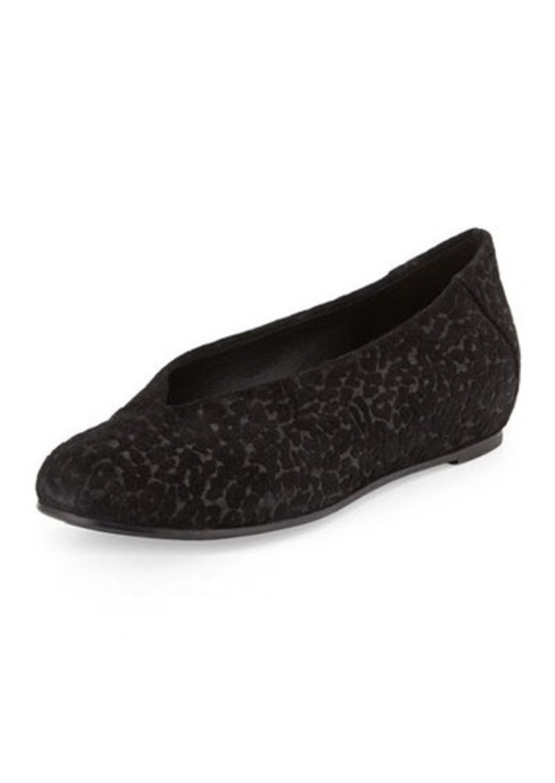Eileen Fisher Patch Leopard-Embossed Suede Flat