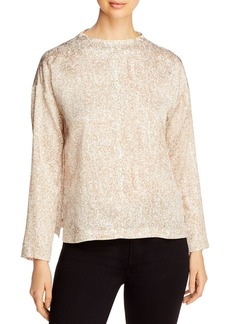 Eileen Fisher Patterned Boxy Top