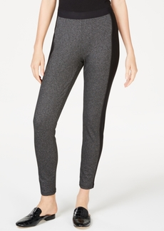 Eileen Fisher Patterned Contrast Stripes Pull-On Pants