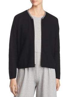 Eileen Fisher Organic Cotton Zip-Up Cardigan