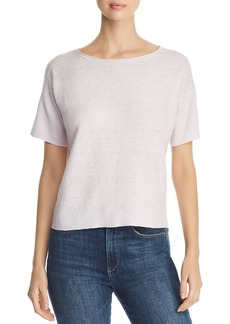 Eileen Fisher Short-Sleeve Organic Linen Sweater