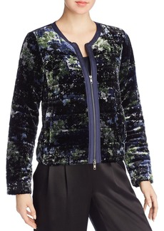 Eileen Fisher Printed Velvet Puffer Jacket - 100% Exclusive