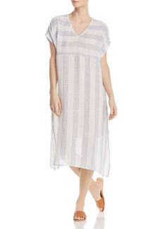 Eileen Fisher Petites Striped Linen Caftan Dress
