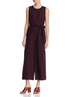 Eileen Fisher Petites Striped Organic Linen Jumpsuit - 100% Exclusive