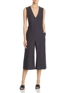 Eileen Fisher Petites V-Neck Cropped Jumpsuit - 100% Exclusive