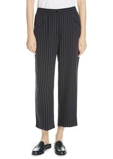 Eileen Fisher Pinstripe Crop Wide-Leg Pants