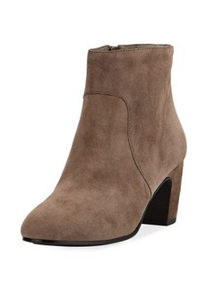 Eileen Fisher Piper Mid-Heel Suede Ankle Boot