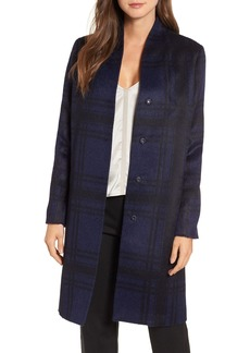 Eileen Fisher Plaid Alpaca Blend Coat (Regular & Petite)