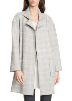 Eileen Fisher Plaid Coat
