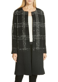 Eileen Fisher Plaid Coat
