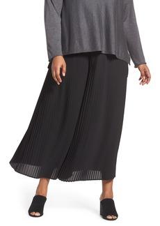 Eileen Fisher Pleat Wide Leg Ankle Pants (Plus Size)