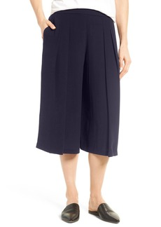 Eileen Fisher Pleated Silk Culottes
