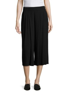 Eileen Fisher Pleated Silk Georgette Culottes