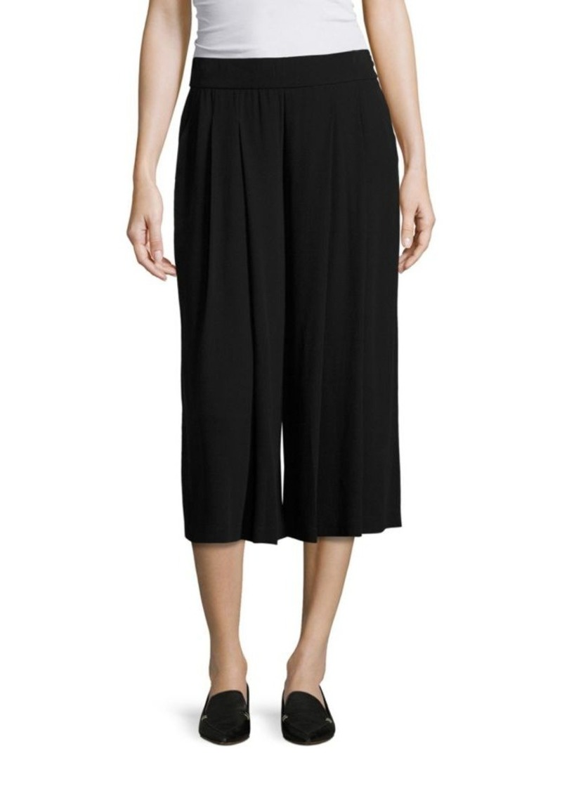 Eileen Fisher Pleated Silk Georgette Culottes
