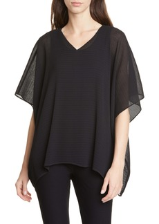 Eileen Fisher Plissé Recycled Polyester Poncho Top