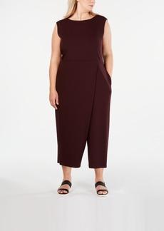 Eileen Fisher Plus Size Boat-Neck Wrap Jumpsuit
