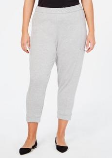 Eileen Fisher Tencel Plus Size Cropped Sweatpants