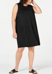 Eileen Fisher Plus Size Drop-Waist Shift Dress