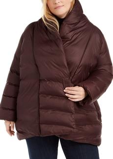 Eileen Fisher Plus Size High Shawl-Collar Coat