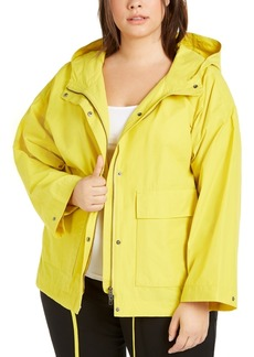 Eileen Fisher Plus Size Hooded Jacket