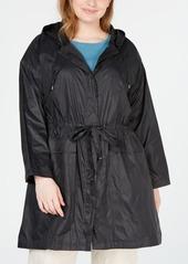Eileen Fisher Plus Size Hooded Tie-Waist Jacket