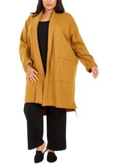 Eileen Fisher Plus Size Open-Front Wool Jacket