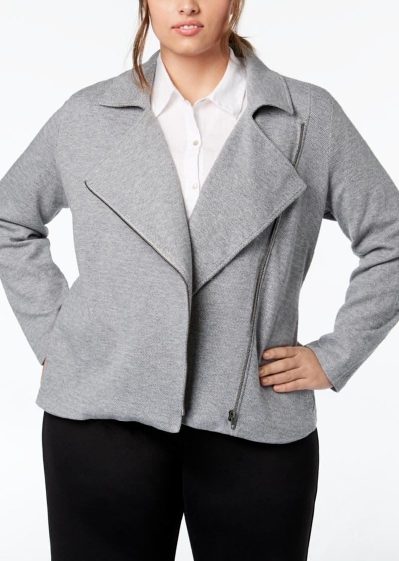 67365dbd964c4 Eileen Fisher Eileen Fisher Plus Size Organic Cotton Jacket