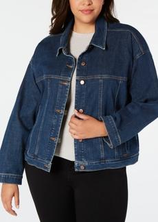 Eileen Fisher Plus Size Organic Cotton Trucker Jacket