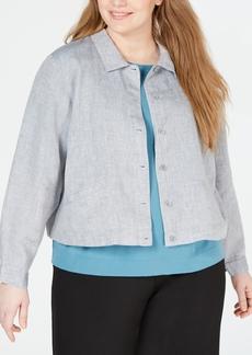 Eileen Fisher Plus Size Organic Jacket