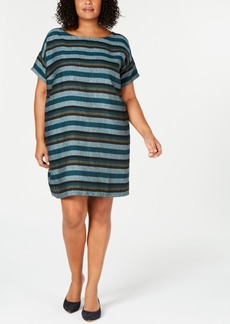 Eileen Fisher Plus Size Organic Linen Dress