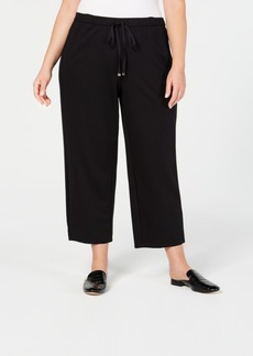 Eileen Fisher Plus Size Ponte Drawstring-Waist Ankle Pants