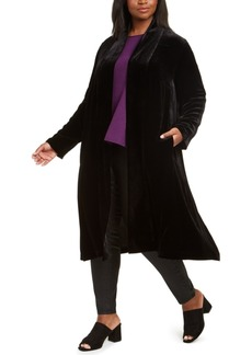 Eileen Fisher Plus Size Shawl-Collar Open-Front Jacket
