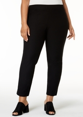 Eileen Fisher System Plus Size Washable Crepe Slim-Leg Ankle Pants