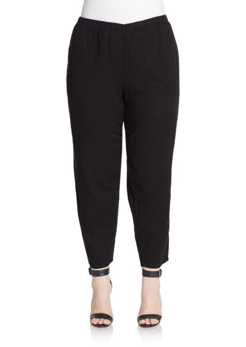 Eileen Fisher, Plus Size Cotton Tapered Pants