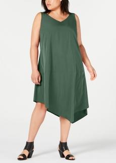 Eileen Fisher Plus Size Tencel Asymmetrical Dress
