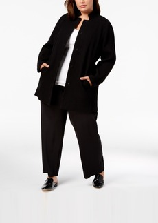 Eileen Fisher Plus Size Tencel Crepe Notched Jacket