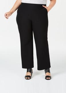 Eileen Fisher Plus Size Washable Crepe Straight-Leg Pants