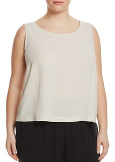 Eileen Fisher Plus System Silk Cropped Shell