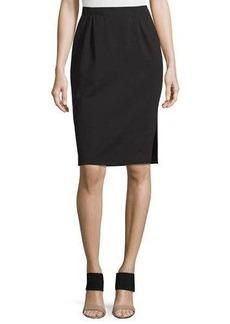 Eileen Fisher Ponte Pencil Skirt w/ Side Slit