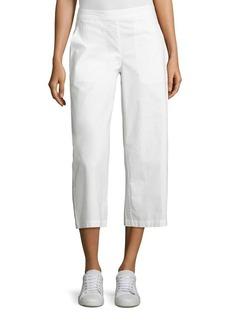 Eileen Fisher Poplin Wide Leg Cropped Pants