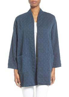 Eileen Fisher Print Denim Jacket (Regular & Petite)