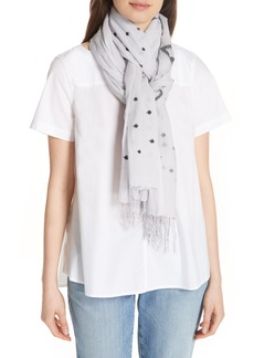 Eileen Fisher Print Organic Cotton Scarf