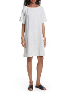 Eileen Fisher Print Shift Dress (Regular & Petite)