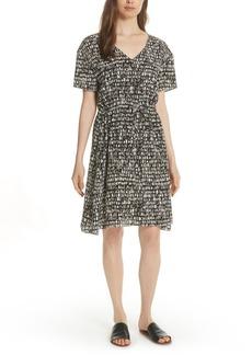 Eileen Fisher Print Silk A-Line Dress (Regular & Petite)