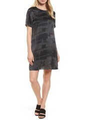 Eileen Fisher Print Silk Shift Dress
