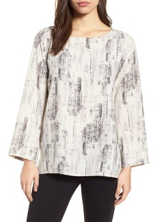 Eileen Fisher Print Tencel® Lyocell Blend Top