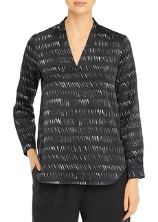 Eileen Fisher Printed V-Neck Top
